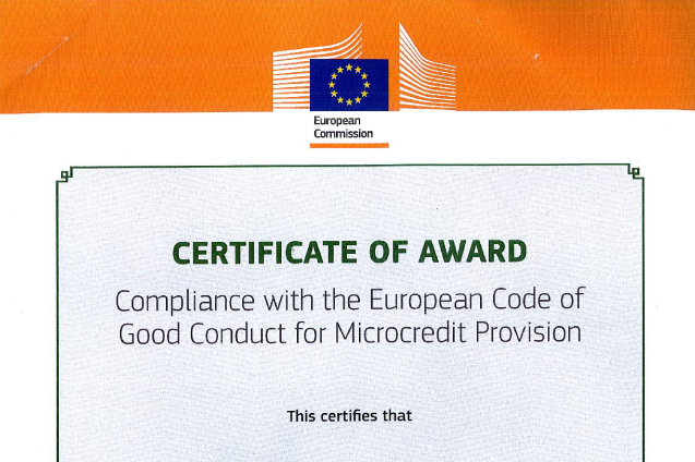 "Fondi Besa awarded ""European Code of Good Conduct for Microcredit Provission"" by the European Commission"
