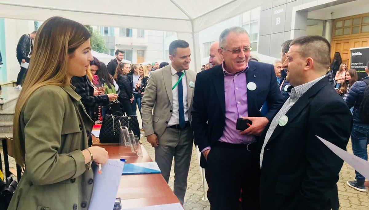 Fondi Besa, partaking Career Fair at Agricultural University of Tirana