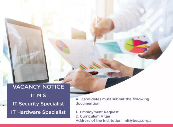 VACANCY NOTICE: IT MIS, IT Security Specialist, IT Hardware Specialist
